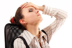 Business woman tired depressed Royalty Free Stock Photography