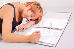 Business woman tired and frustrated Royalty Free Stock Photos