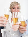 Business woman toasting Stock Photos