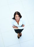 Business woman. Top view. In the office Royalty Free Stock Photos