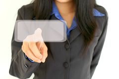 Business woman touch digital interface Royalty Free Stock Photography
