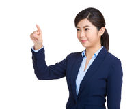 Business woman touch the screen Royalty Free Stock Image