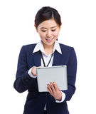 Business woman touch on tablet Royalty Free Stock Photo