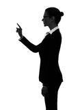 Business woman touching copy sapce silhouette Stock Photography