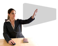 Business woman touching digital screen Royalty Free Stock Photos