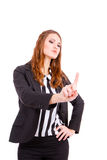 Business woman  touching virtual screen Royalty Free Stock Image