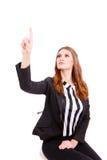Business woman  touching virtual screen Royalty Free Stock Photo