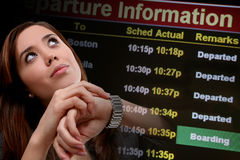 Business Woman Travel royalty free stock photography