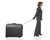 Business woman on a trip Royalty Free Stock Photo