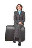 Business woman on a trip Royalty Free Stock Image