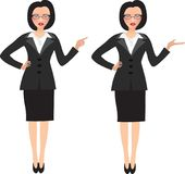 Business woman in two different positions Royalty Free Stock Photo