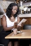 Business Woman type on her tablet Stock Photography
