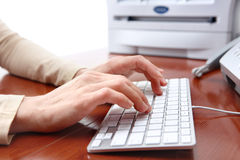 Business Woman Typing Stock Photos