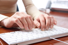 Business Woman Typing Stock Image