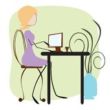 Business Woman Typing Royalty Free Stock Photography