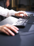 Business Woman Typing on Computer Keyboard Stock Photo