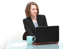 Business woman typing Royalty Free Stock Images