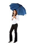 Business woman with an umbrella Royalty Free Stock Image