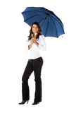 Business woman with an umbrella Stock Photo