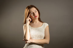 Business Woman Under Pressure Royalty Free Stock Photo