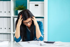 Business woman under stress stock images