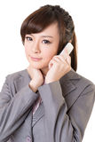 Business woman use cellphone Royalty Free Stock Photography
