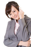 Business woman use cellphone Royalty Free Stock Images