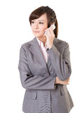 Business woman use cellphone Royalty Free Stock Photos
