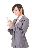 Business woman use cellphone Stock Image