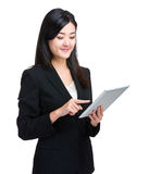 Business woman use digital tablet Royalty Free Stock Images
