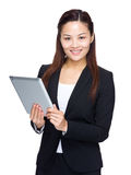 Business woman use digital tablet Stock Photo