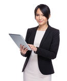 Business woman use digital tablet Stock Photography