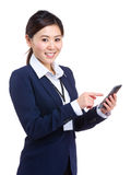 Business woman use smart phone Stock Photos