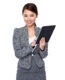 Business woman use of tablet Royalty Free Stock Photo