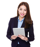 Business woman use of tablet Stock Photography
