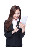 Business woman use tablet pc Royalty Free Stock Photo