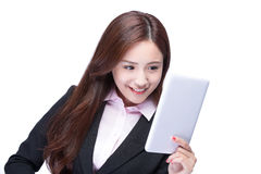 Business woman use tablet pc Stock Images