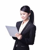 Business woman use tablet Stock Photos