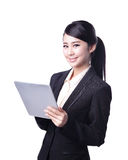 Business woman use tablet Stock Image