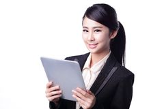 Business woman use tablet Royalty Free Stock Image