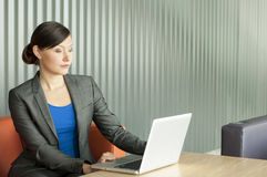 Business Woman Using A Laptop Royalty Free Stock Images