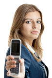 Business woman using a cell phone Royalty Free Stock Photo