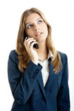 Business woman using a cell phone Stock Photo