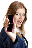Business woman using a cell phone Stock Photos