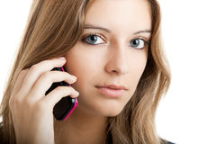 Business woman using a cell phone Royalty Free Stock Photos