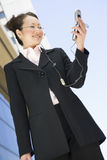 Business Woman Using Cell Phone Stock Images