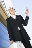 Business Woman Using Cell Phone Royalty Free Stock Photos