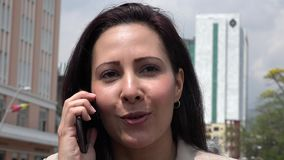 Business Woman Using Cell Phone stock video