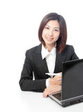Business woman using computer Royalty Free Stock Photography