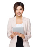 Business woman using digital tablet computer PC Royalty Free Stock Photo